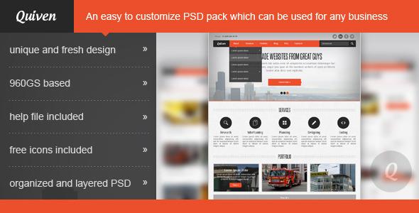 Quiven – Creative PSD Template