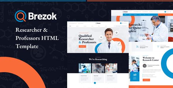 Brezok - Researcher & Professors HTML Template