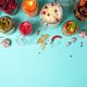 Probiotics food background. Korean carrot, kimchi, beetroot, sauerkraut, pickled cucumbers in glass - PhotoDune Item for Sale