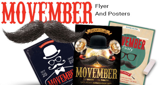 Movember Party Flyer And Poster