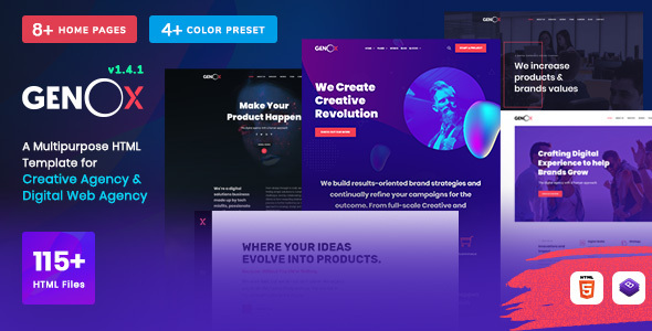 Genox - Creative & Digital Web Agency Multipurpose HTML Template