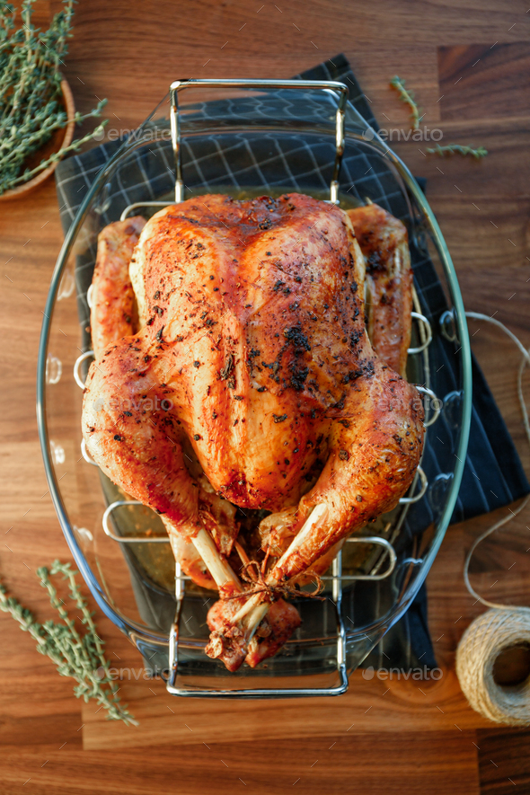 Roasted whole turkey - Stock Photo - Images