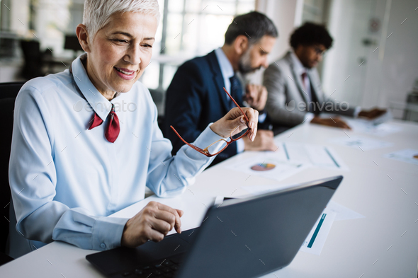 Business people meeting corporate digital device connection concept - Stock Photo - Images