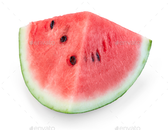 piece of red watermelon - Stock Photo - Images