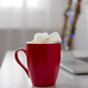 Red Cup with hot chocolate full of marshmallows - PhotoDune Item for Sale