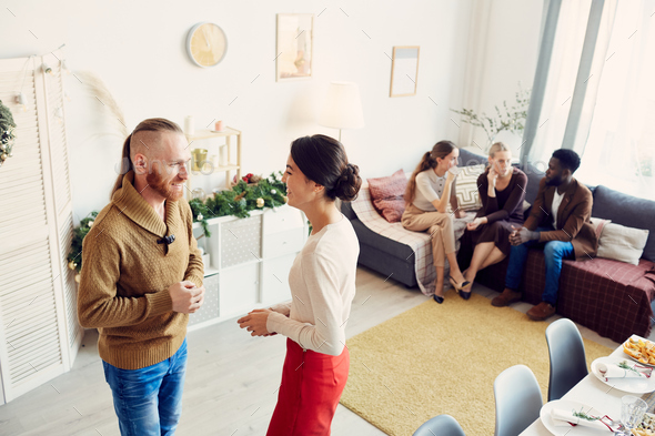 Young People Mingling at Party - Stock Photo - Images