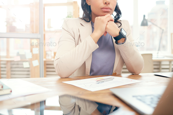Background Image of Businesswoman at Workplace - Stock Photo - Images