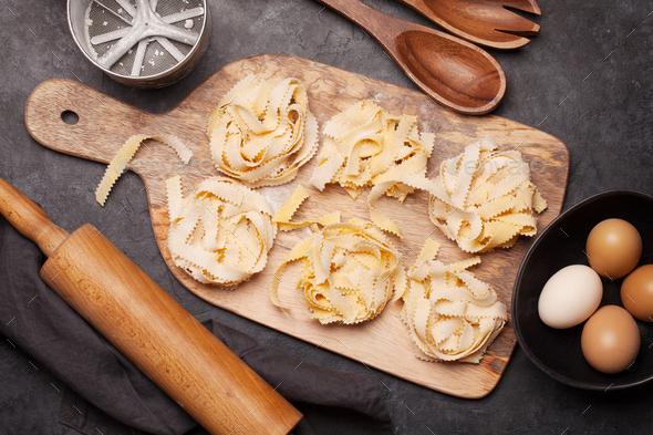 Homemade pasta making - Stock Photo - Images