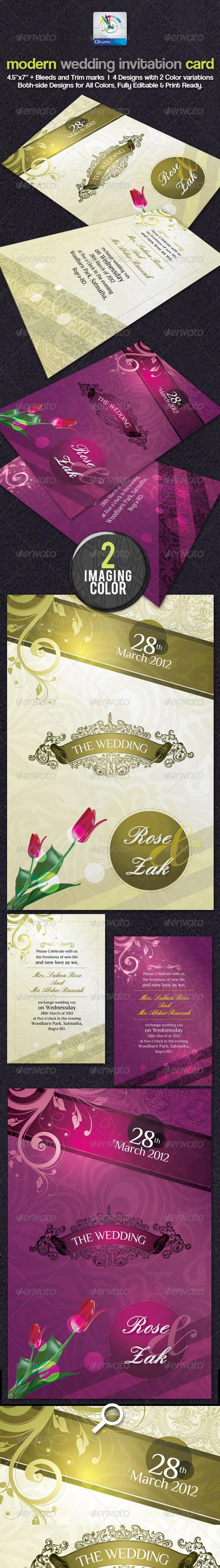 Modern Wedding Invitation Cards - Weddings Cards & Invites