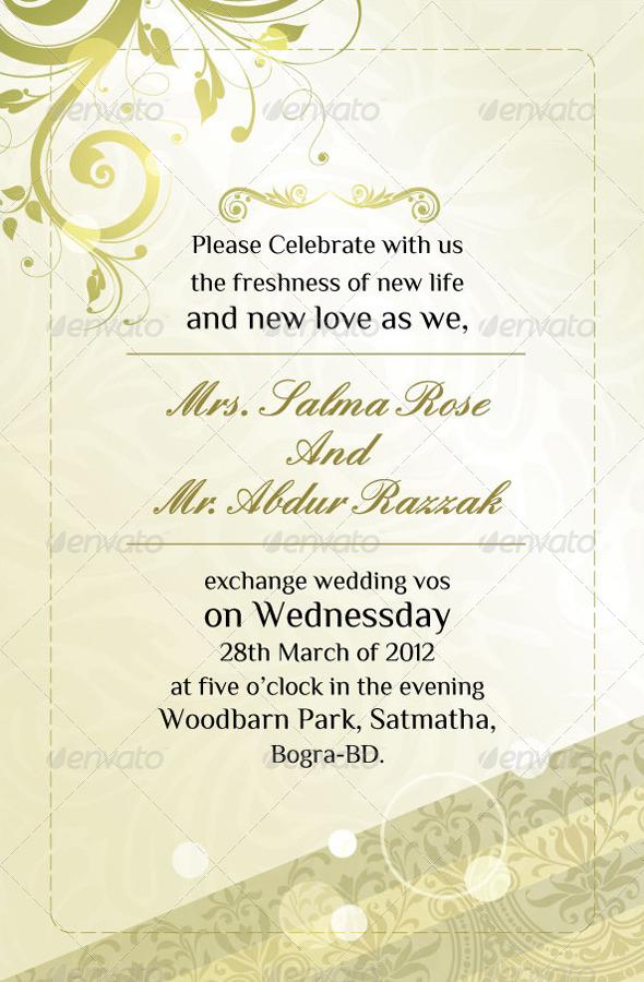 Modern Wedding Invitation Cards by GraphicArtist – Modern Invitation Cards