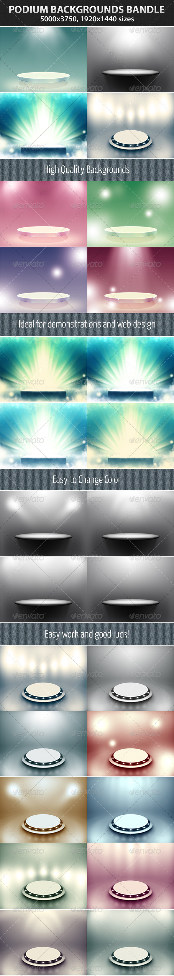 Podium Backgrounds Bundle - Backgrounds Graphics