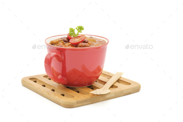 Cup of Chilis - Stock Photo - Images