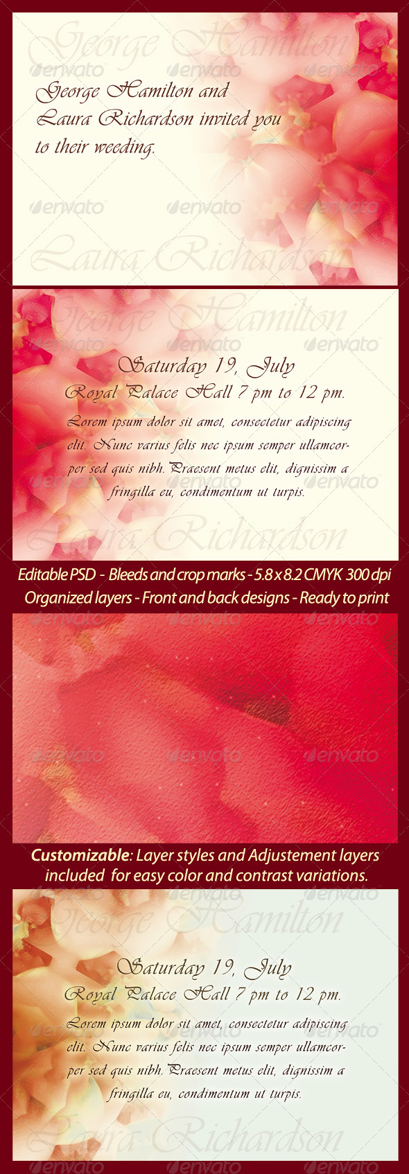 Wedding/Engagement Invitation Template by Rudimencial | GraphicRiver