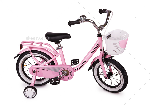 Pink bicycle - Stock Photo - Images