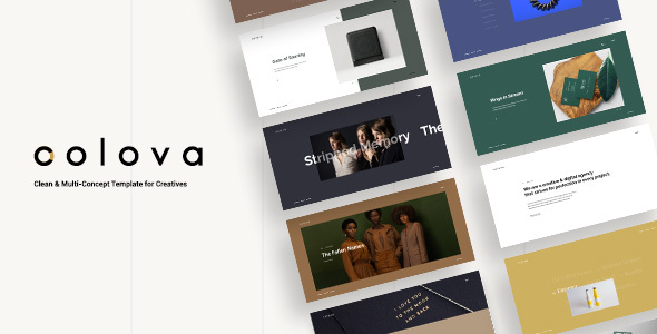 Colova - Clean & Multi-Concept Template for Creatives