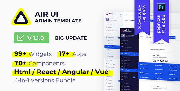 Air UI — Multi Concept Admin Template by sellpixels_com