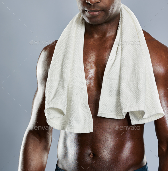 Unidentifiable chest of Black man - Stock Photo - Images