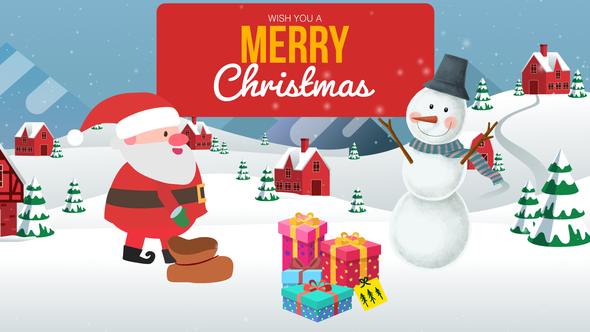 Cartoon Christmas Wishes - Christmas