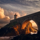 Sunset on the ark of a lighthouse - PhotoDune Item for Sale