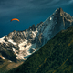 Orange paragliding in the mountains - PhotoDune Item for Sale