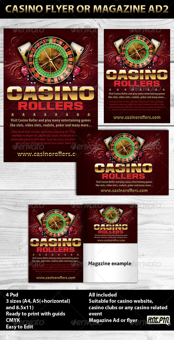Casino Magazine Ads or Flyers 2 - Sports Events