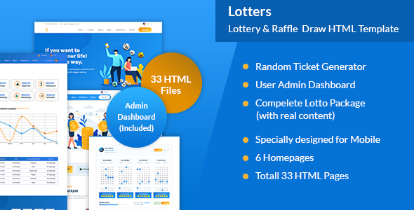 Lotters - Online Lotto & Lottery HTML Template