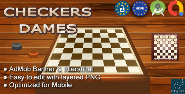 Checkers - Dames (Android Studio - Admob - GDPR)