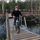 Bicyclist Rides Over The Bridge - VideoHive Item for Sale