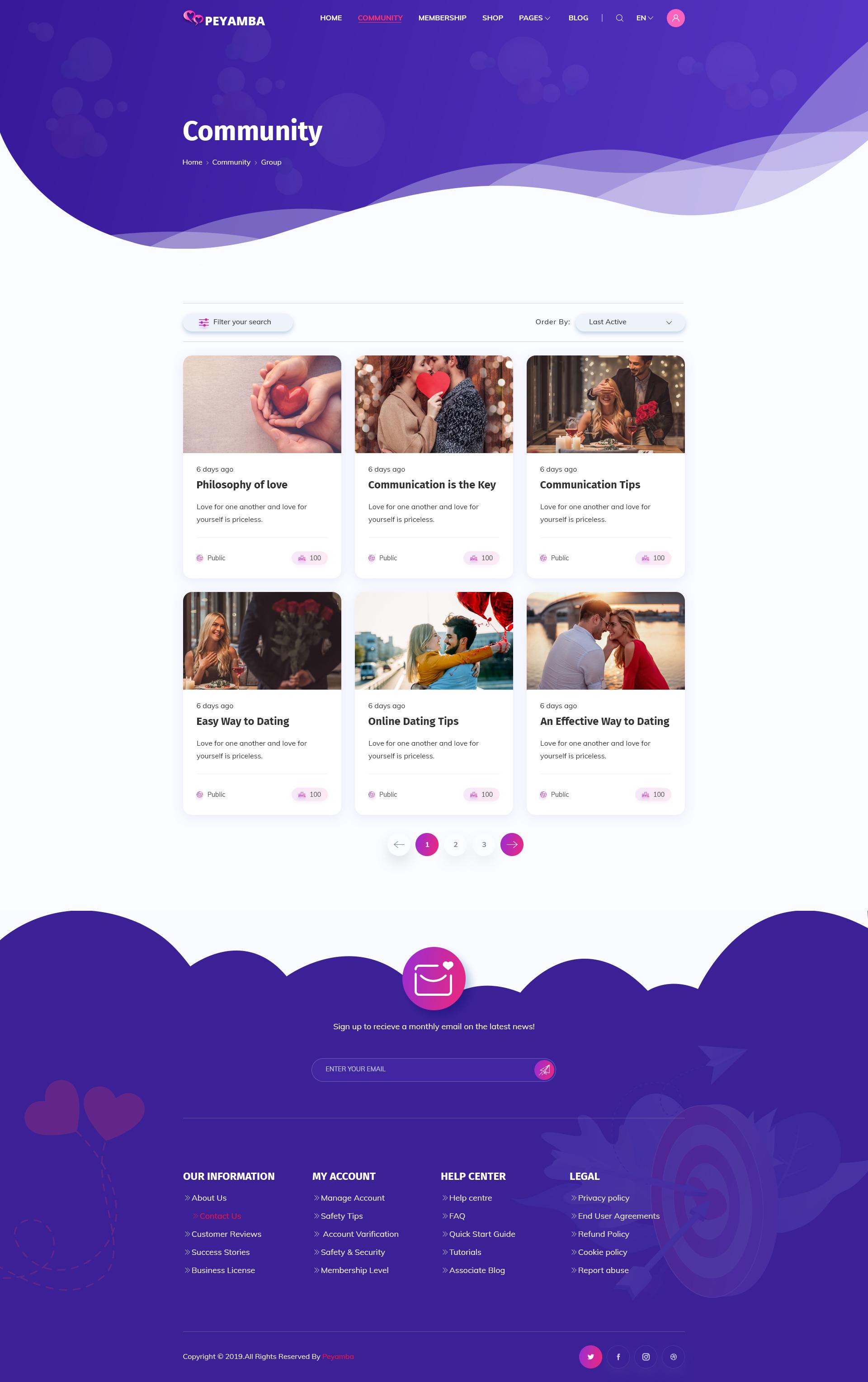 webb design för online dating