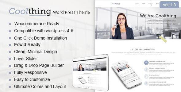 Coolthing - Corporate  Business WordPress Thems