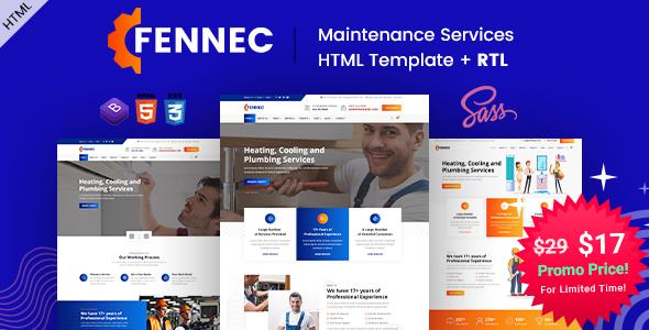Fennec - Repair & Maintenance Services HTML Template