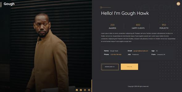 Gough - Personal Portfolio Template
