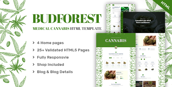 Budforest | Medical Cannabis HTML5 Template