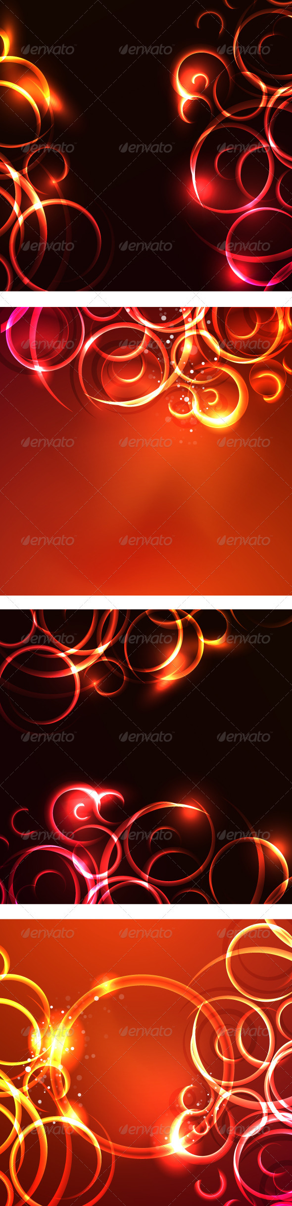 Glowing Swirl Vector Backgrounds - Backgrounds Decorative
