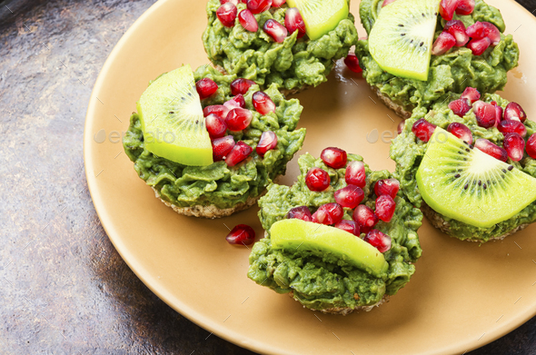 Cupcakes from avocado and kiwi. - Stock Photo - Images