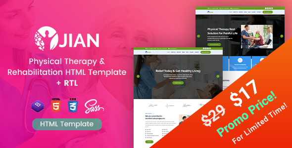 Jian - Physical Therapy & Rehabilitation HTML Template by EnvyTheme