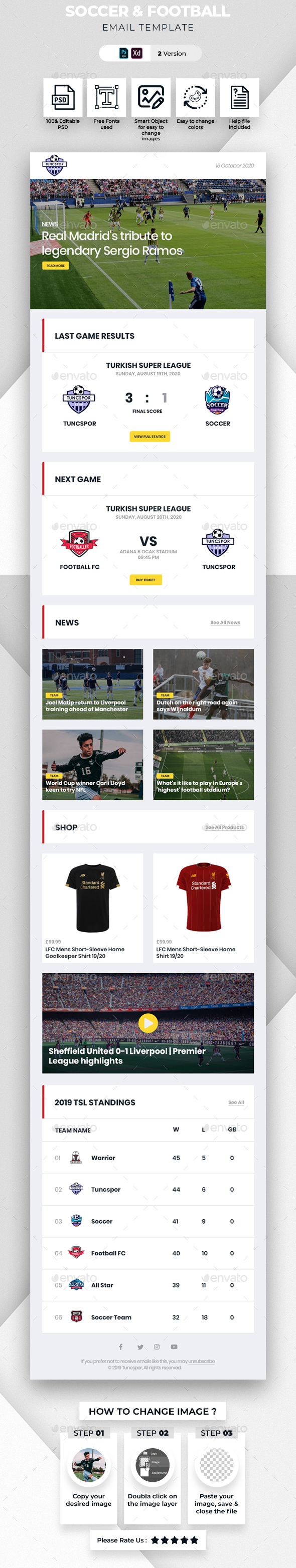 Soccer & Football Email Template