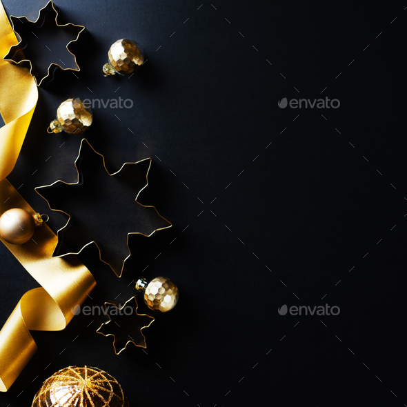 Christmas abstract golden background - Stock Photo - Images