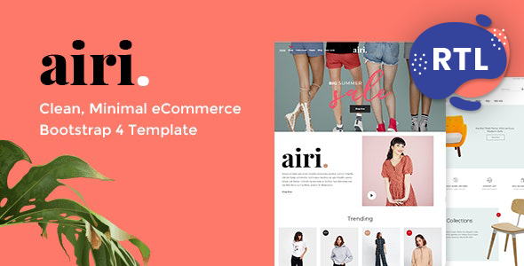 Excellent Airi - Minimal eCommerce HTML Template