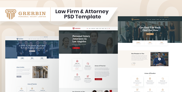 Grerbin- Law Firm and Attorney PSD Template