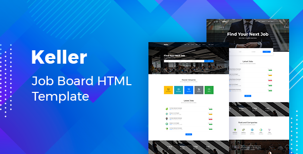 Keller - Job Board HTML Template