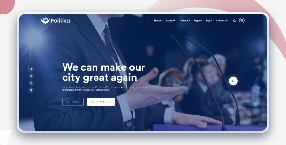 Politika - Political HTML Template