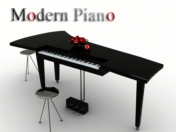 Modern Piano - 3DOcean Item for Sale