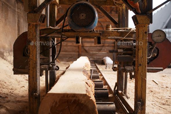 Woodworking machine, nobody, lumber industry - Stock Photo - Images