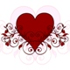red heart with ornament - GraphicRiver Item for Sale