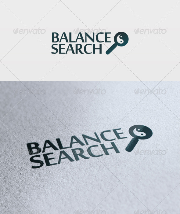Balance Search Logo - Objects Logo Templates