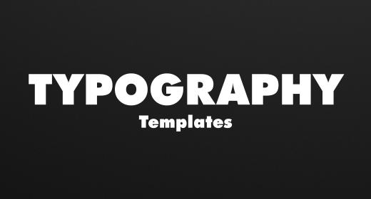 Typography Templates