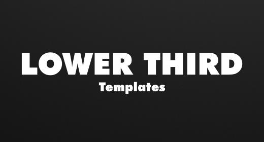 Lower Third Templates