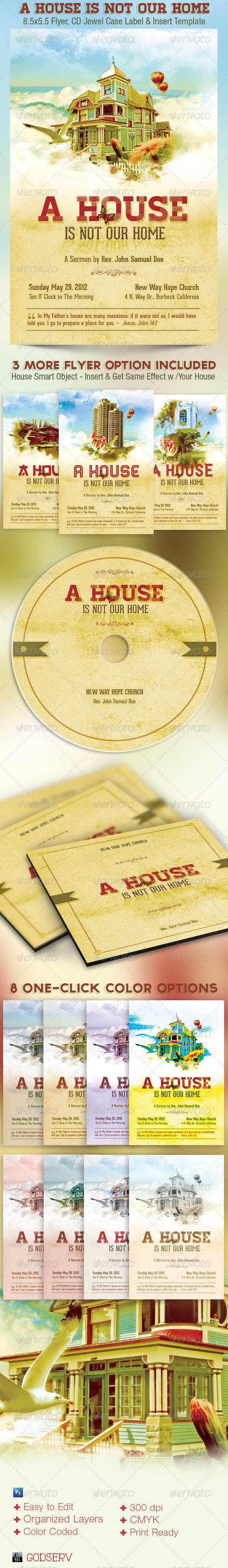 Home Church Flyer CD Template - Church Flyers