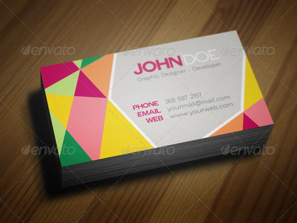 Abstract personal business cards template by juhrrex graphicriver abstract personal business cards template flashek Choice Image